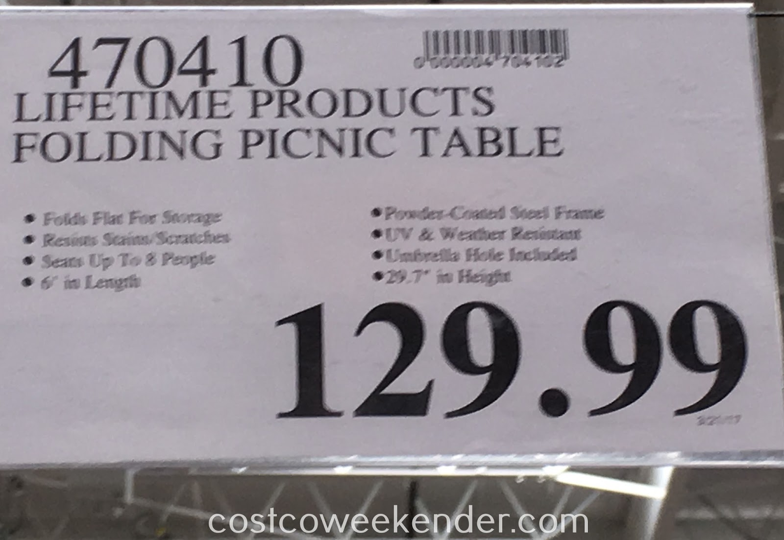 Deal for the Lifetime Products Folding Picnic Table at Costco