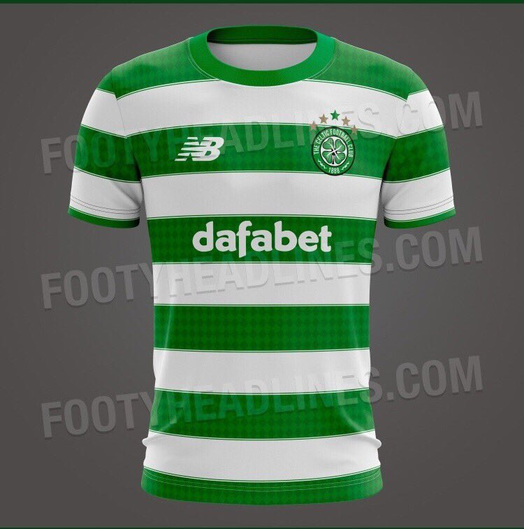 efb7a9f807d FAKE Celtic 19-20 Home Kit With Footy Headlines Watermark 'Leaked ...