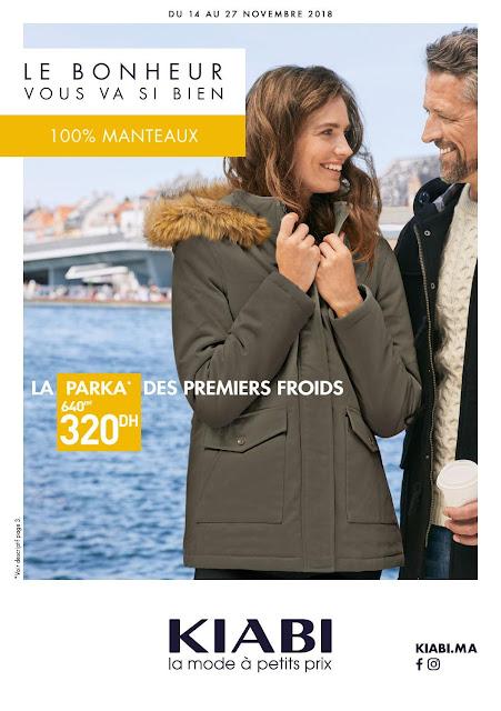 catalogue kiabi maroc manteaux novembre 2018
