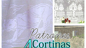 Cortinas en Crochet Filet / 4 Patrones Gratis