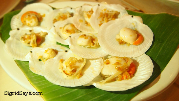 Baked scallops at Ading's Pala-pala