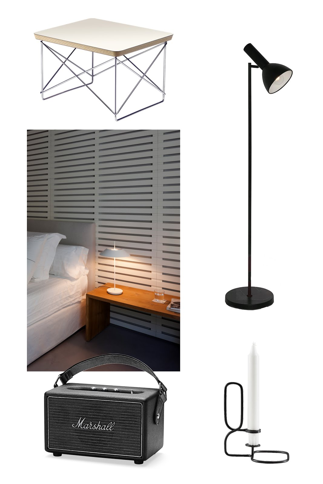 Vitra, eames ltr table, Gino lamp, lampen 24, marshall killburn, speaker, steel, hay lup candle, vibia mayfair lamp