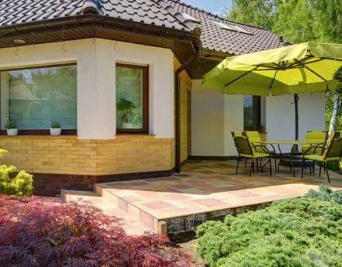 Taman Rumah Minimalis lebar