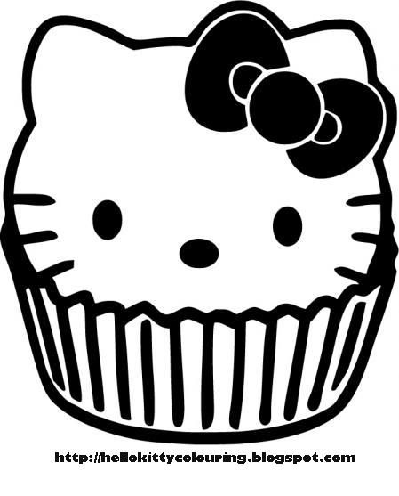 Hello Kitty Coloring Hello Kitty Cupcake Coloring Page