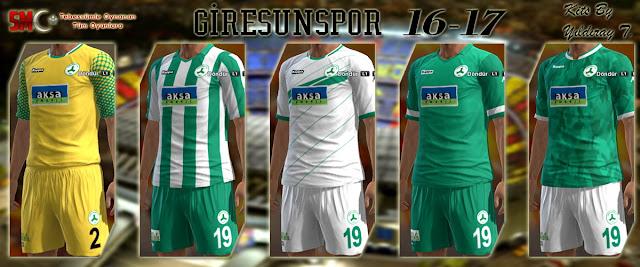 PES 2013 Giresunspor 16/17 Kits by Yıldıray T