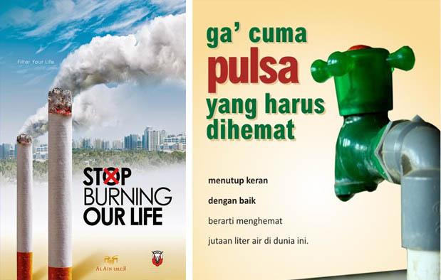 Contoh Iklan Berhenti Merokok dan Hemat Air
