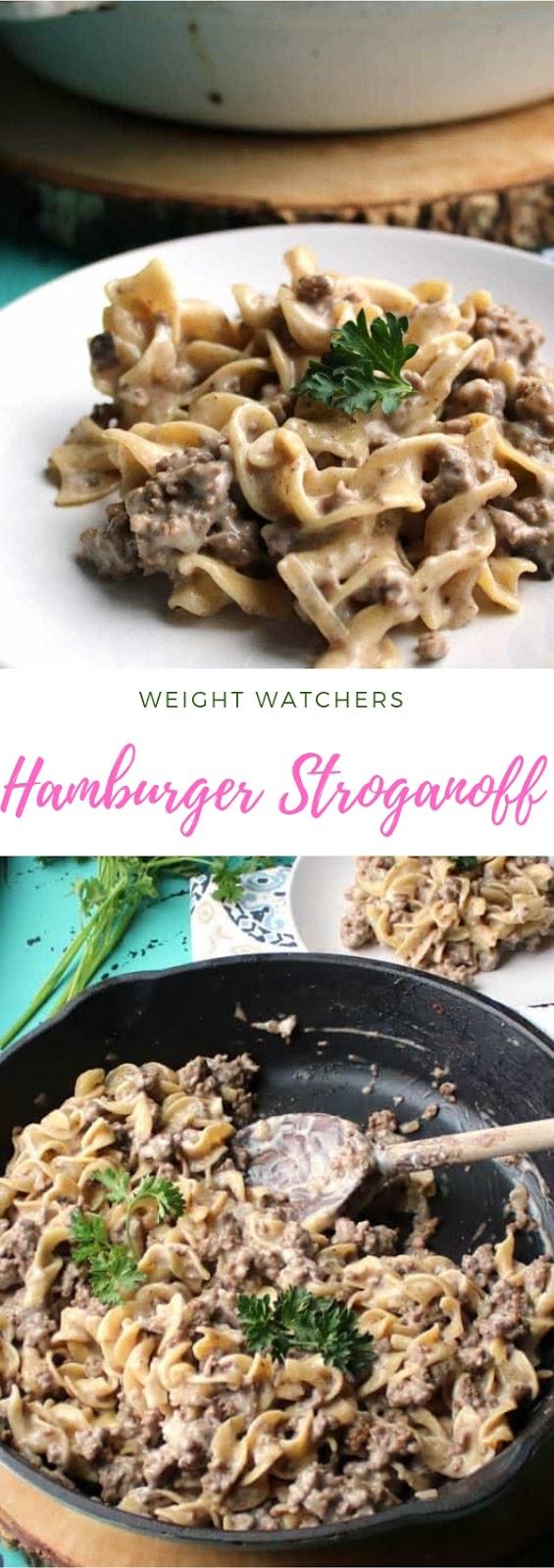 Weight Watchers Hamburger Stroganoff #maincourse #dinner #weightwatchers #hamburger #stroganoff