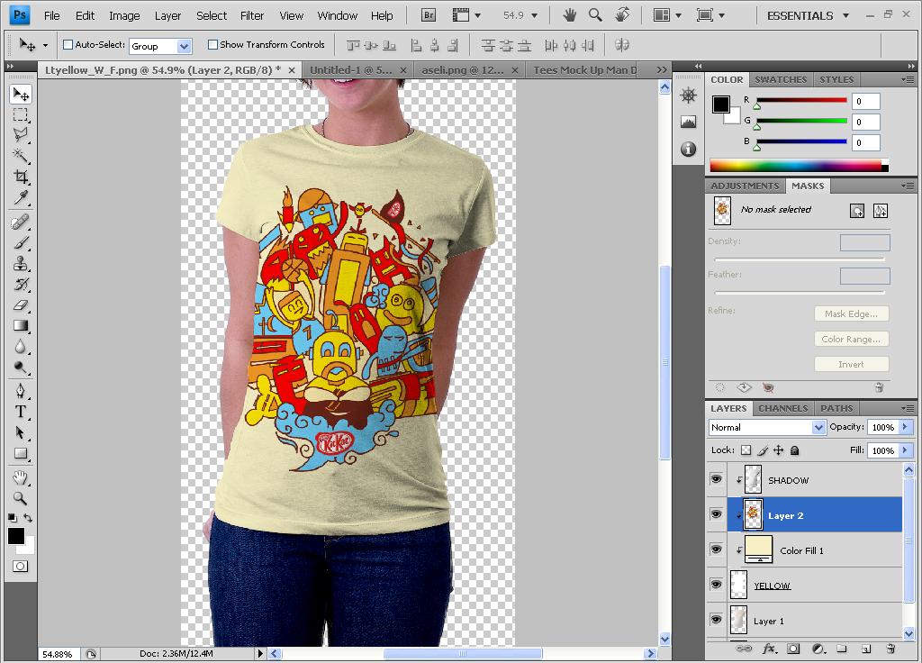 membuat mockup tshirt