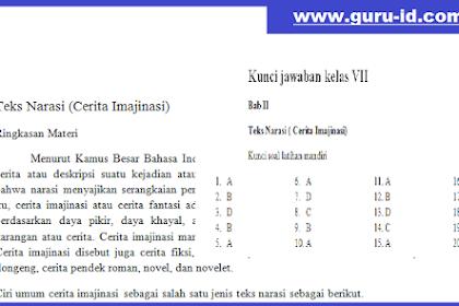 Contoh soal Hots k13 kelas 7 Teks Narasi dan Kunci Jawaban