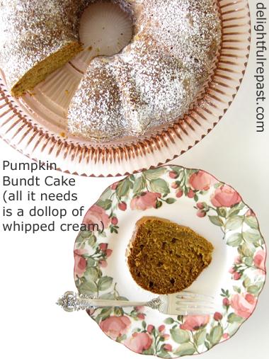 Pumpkin Bundt Cake / www.delightfulrepast.com