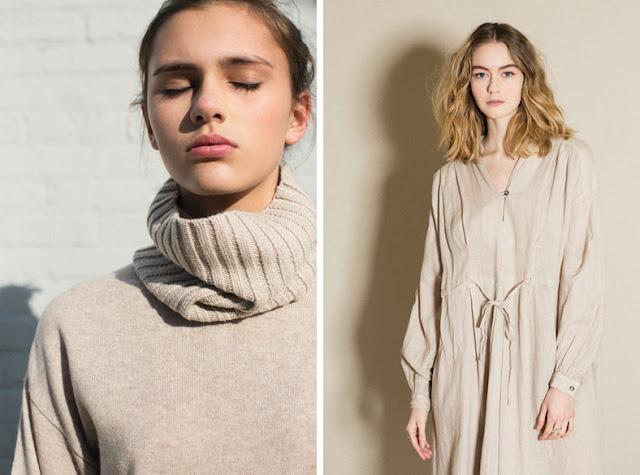 Девушка в свитере и платье цвета овса