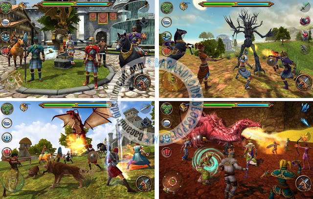 screenshoot Game 3D MMO Celtic Heroes v1.18 Apk Obb Full Data lengkap cara install