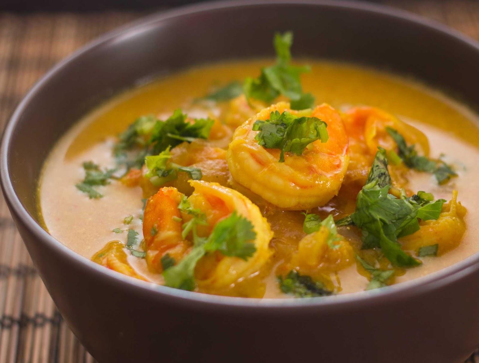 Fabulous friday shrimp curry in coconut milk