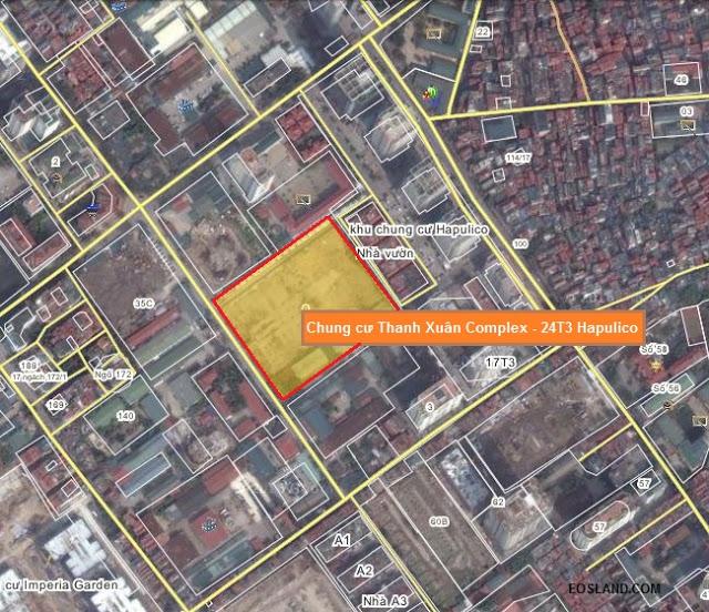 Vị trí chung cư Thanh Xuân Complex Hapulico 2