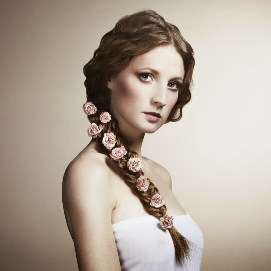 20 fashion portraits of young beautiful women by oleg gekman best beautiful woman with flowers in her hair portrait izmirmasajfo Image collections
