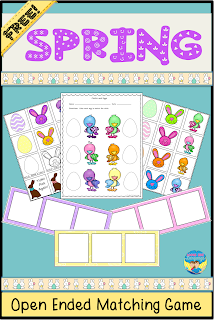 Get the last part of the packet now! Spring Color Match Fun by Looks Like Language