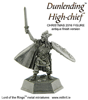 Christmas 2016 Mithril figure | Dunlending High-chief - antique finish version