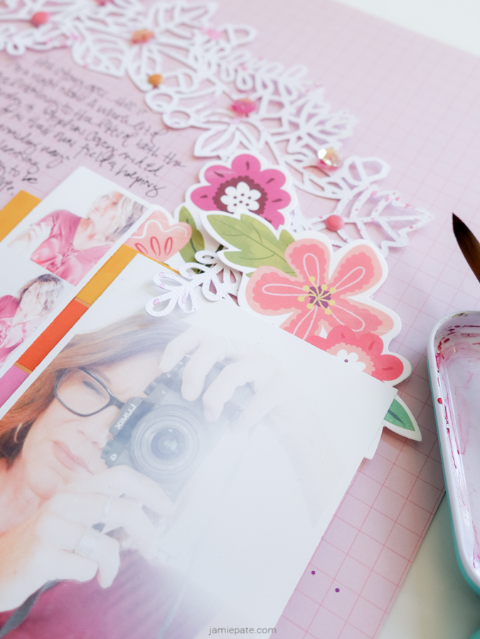 How to Scrapbook Yourself with Pink Paislee Truly Grateful by Jamie Pate