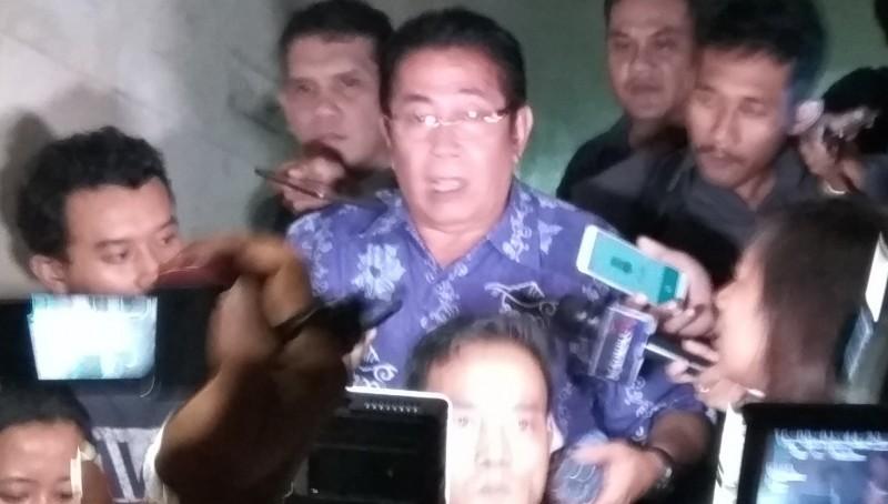 Suami Sylviana Murni, Gde Sardjana usai diperiksa penyidik Ditreskrimum Polda Metro Jaya