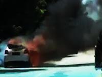 Pulang Sekolah, Isi Bensin, Mobil Guru SDN 22 Soreang Pangkep, Hangus Terbakar Dijalan