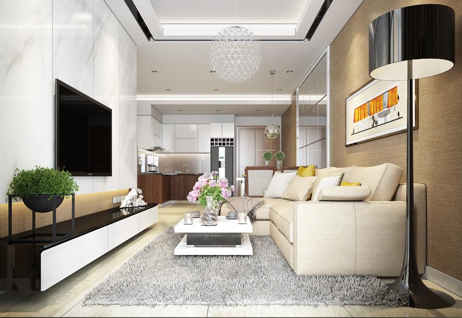 Phòng khách căn hộ Tây Hà Tower