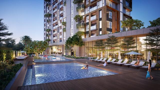 Bể bơi nghỉ dưỡng tại condel Đà Nẵng