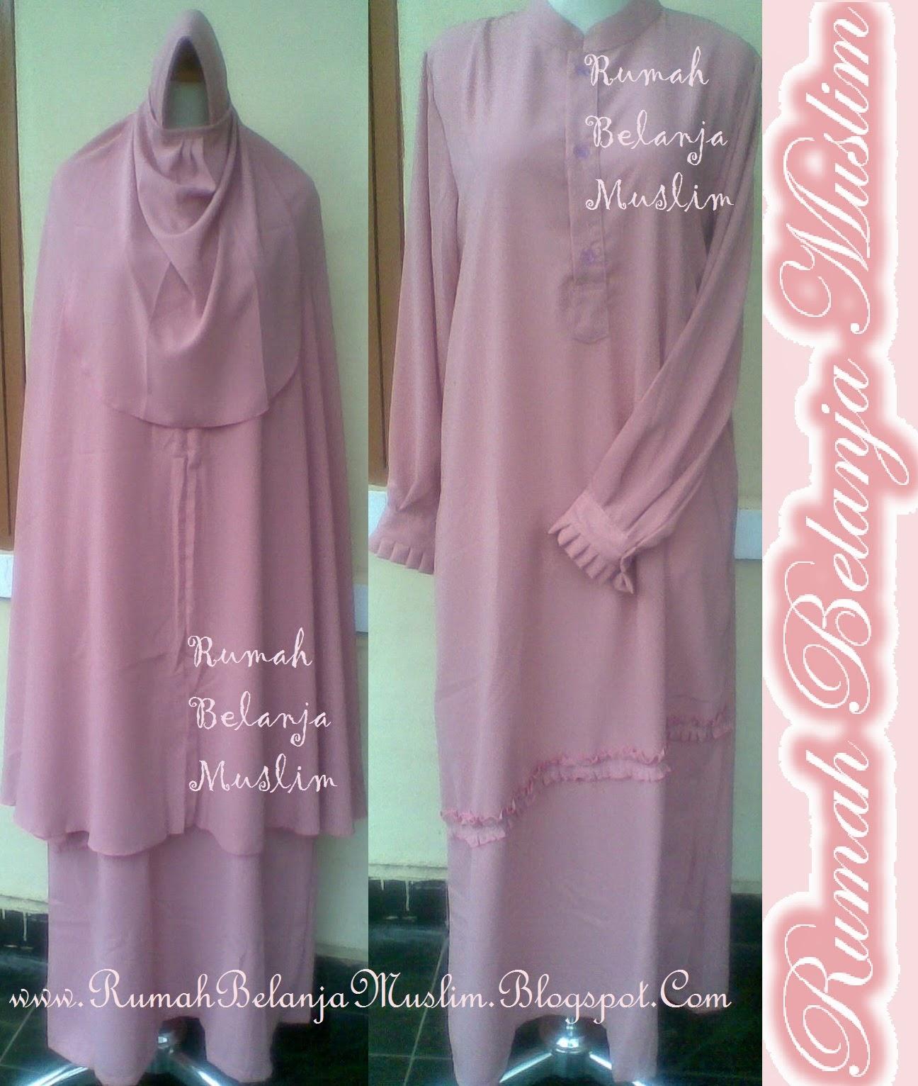 Gamis Akhwat Muslimah Syar'i Pink Kalem