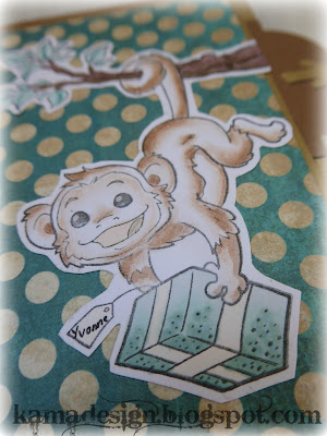 Whiff of joy safari animals card monkey