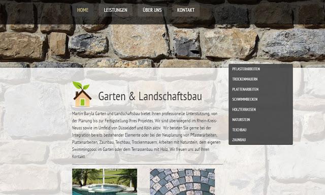 Webseite Garten & Landschaftsbau Neuss