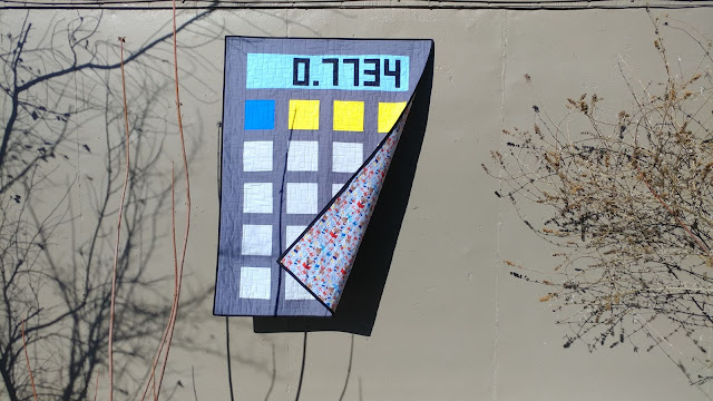Calculator quilt made by Slice of Pi Quilts