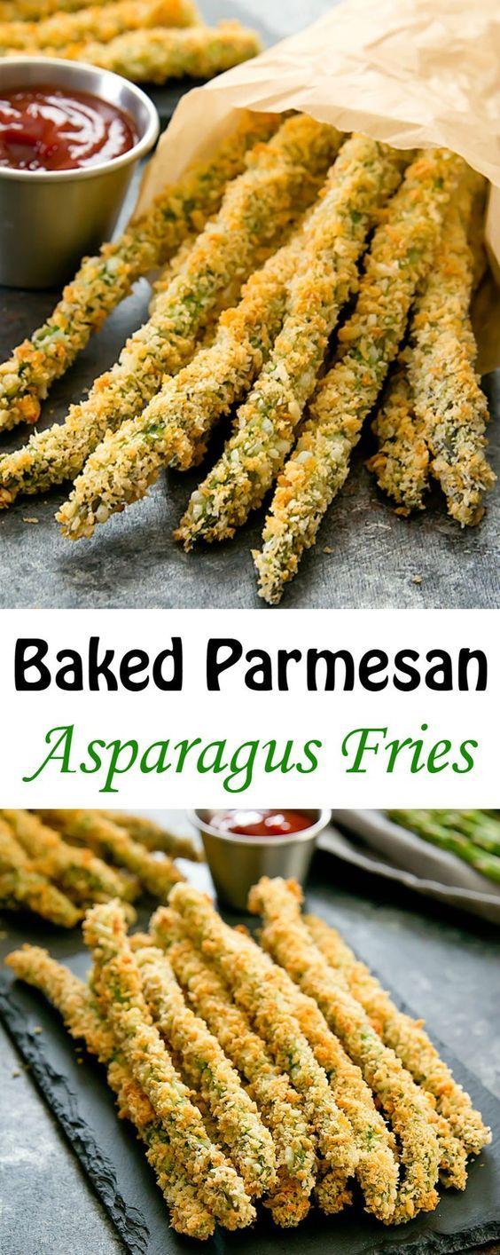 BAKED PARMESAN ASPARAGUS FRIES #parmesan #asparagus #asparagusrecipes #asparagusfries #vegetarianrecipes