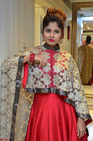 Anya South Actress model in Red Anarkali Dress at Splurge   Divalicious curtain raiser ~ Exclusive Celebrities Galleries 024.JPG