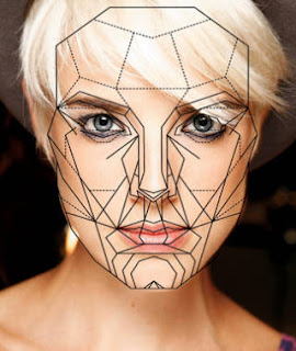 Agyness Deyn overlaid  with Marquardt's Golden Ratio FaceTemplate
