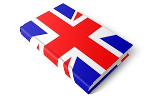 bandiera inglese su libro