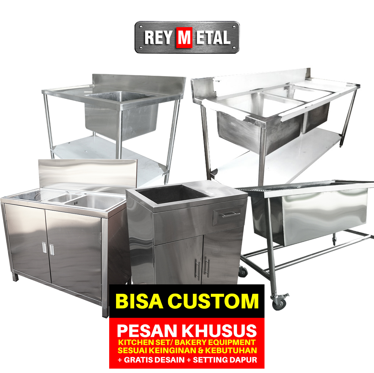 Reymetal com produsen kitchen set stainless for Harga kitchen set aluminium per meter
