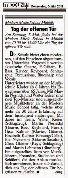 MODERN MUSIC SCHOOL - Glarnerland: Musikunterricht ...