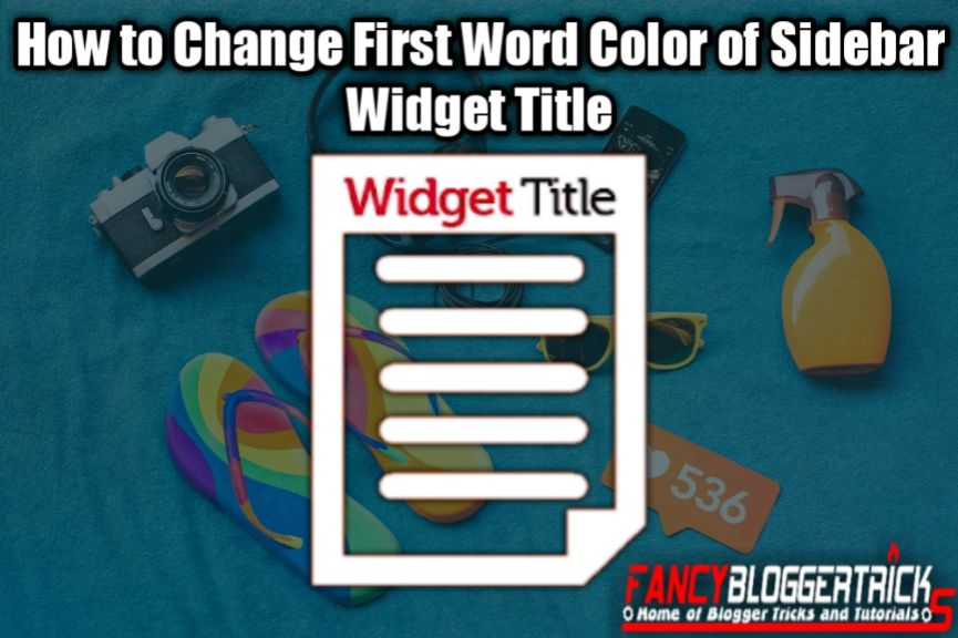 How to Change First Word Color of Sidebar Widget Titles