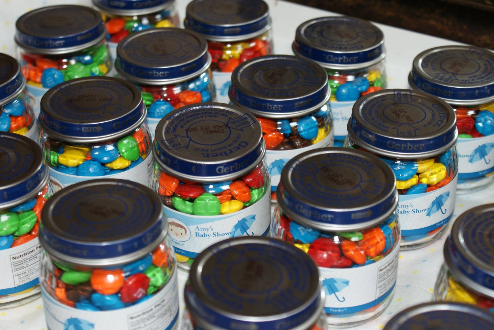 Baby Shower Food Ideas Baby Shower Food Jar Favors