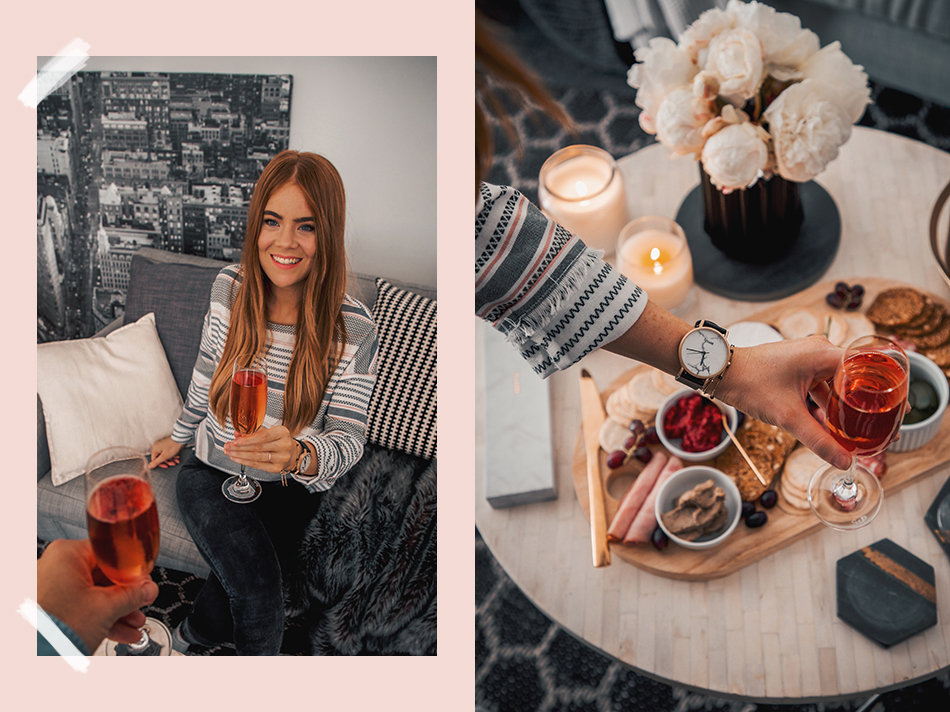 Cluse La Roche, marble watch, Lion in the Wild, Kiara King, best friends, finance, couple goals, cute couples, Chandon, rosé, cheese platter, cheese spread