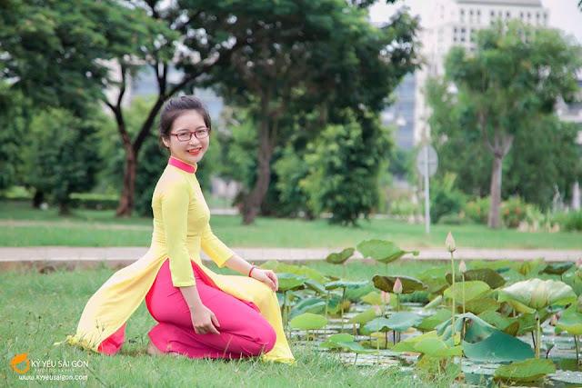 thuê áo dài đẹp ở Sài Gòn