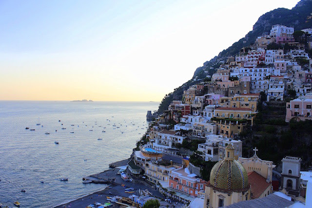 View of Positano from Franco's bar
