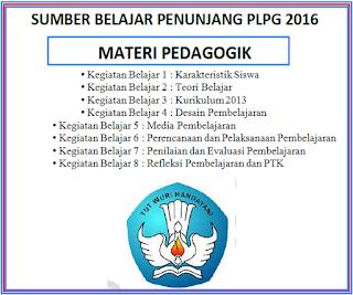Download Modul Sumber Belajar Penunjang PLPG 2016 Materi Pedagogik