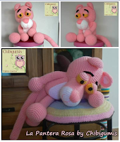 pantera rosa version de chibigumis amigurumis