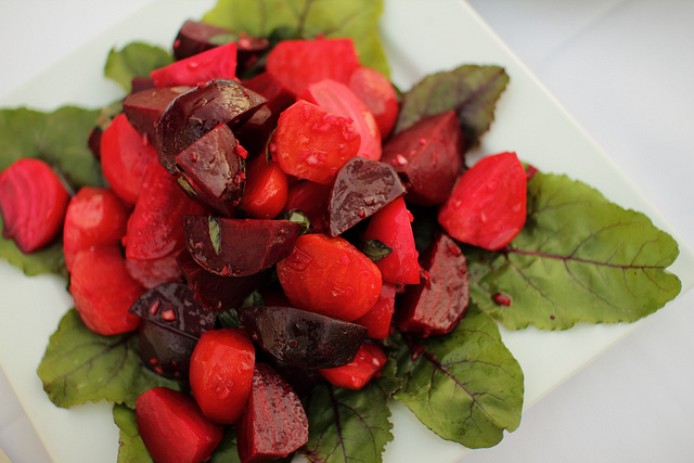 salade de betteraves rouges, cuisine sefarade, Yom Kippur beet salad
