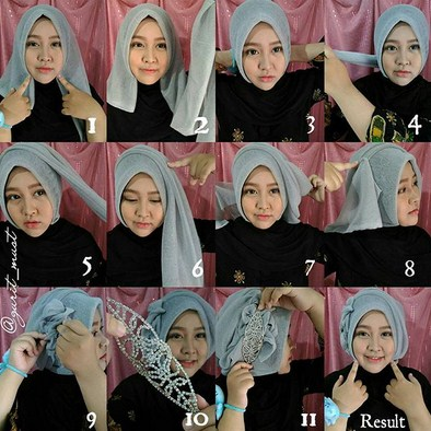 Tutorial Hijab Terima Tamu Manten Hijab Salwa