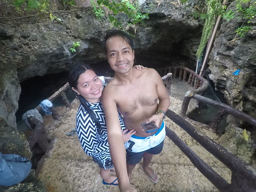 The stairs leading down to Ogtong Cave in Bantayan Island