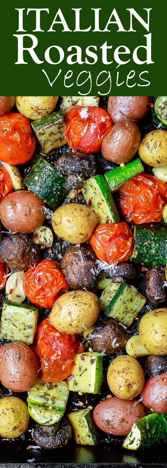 Simple and delicious Italian Oven Roasted Vegetables. The perfect side dish in minutes!