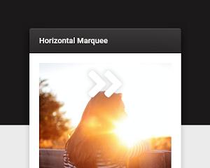 Widget afiliados con movimiento horizontal