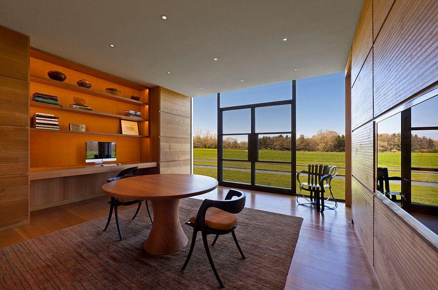 25 Desain Interior Cat Rumah Warna Orange Rumah Minimalis