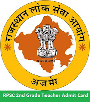 RPSC 2nd Grade Teacher Admit Card